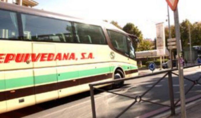 Uno de los autobuses de la empresa La Sepulvedana