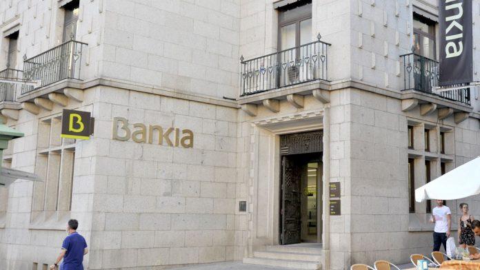 Oficina principal de Bankia, en la Avenida del Acueducto. / KAMARERO