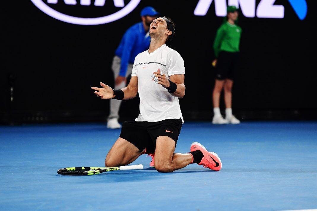 Rafa Nadal celebra un triunfo en el pasado Abierto de Australia.