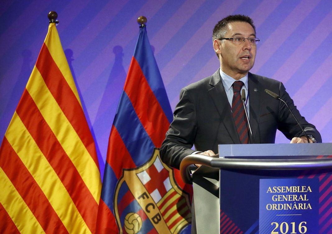 El presidente del FC Barcelona, Josep Maria Bartomeu, durante un acto anterior del club azulgrana.