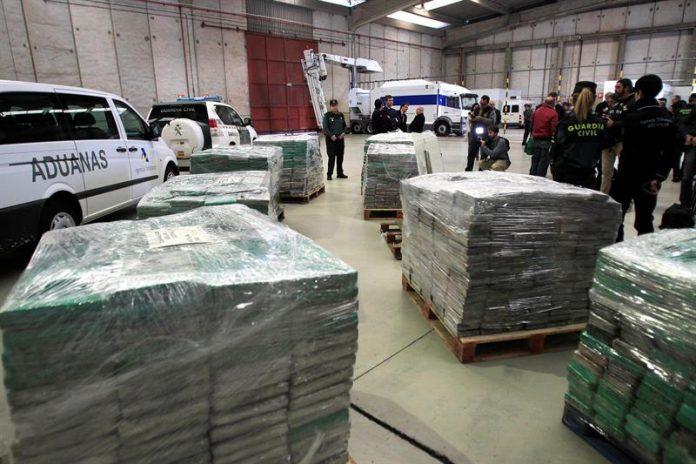 El valor de mercado del material incautado puede llegar a los 210 millones de euros.
