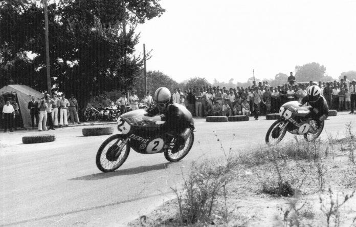 Ángel Nieto, durante su época como piloto del Mundial de motociclismo.
