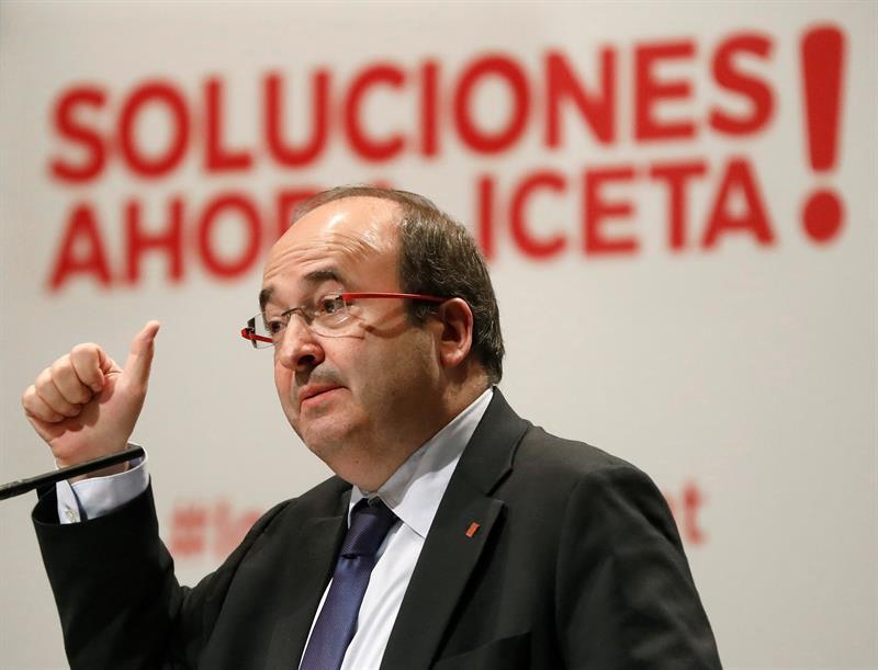 El candidato del PSC a la Generalitat, Miquel Iceta.