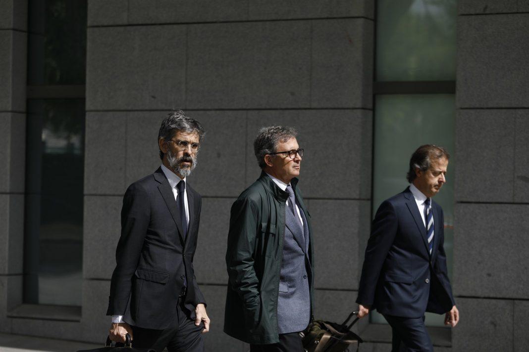 Jordi Pujol Ferrusosa a su llegada a la Audiencia Nacional para declarar.