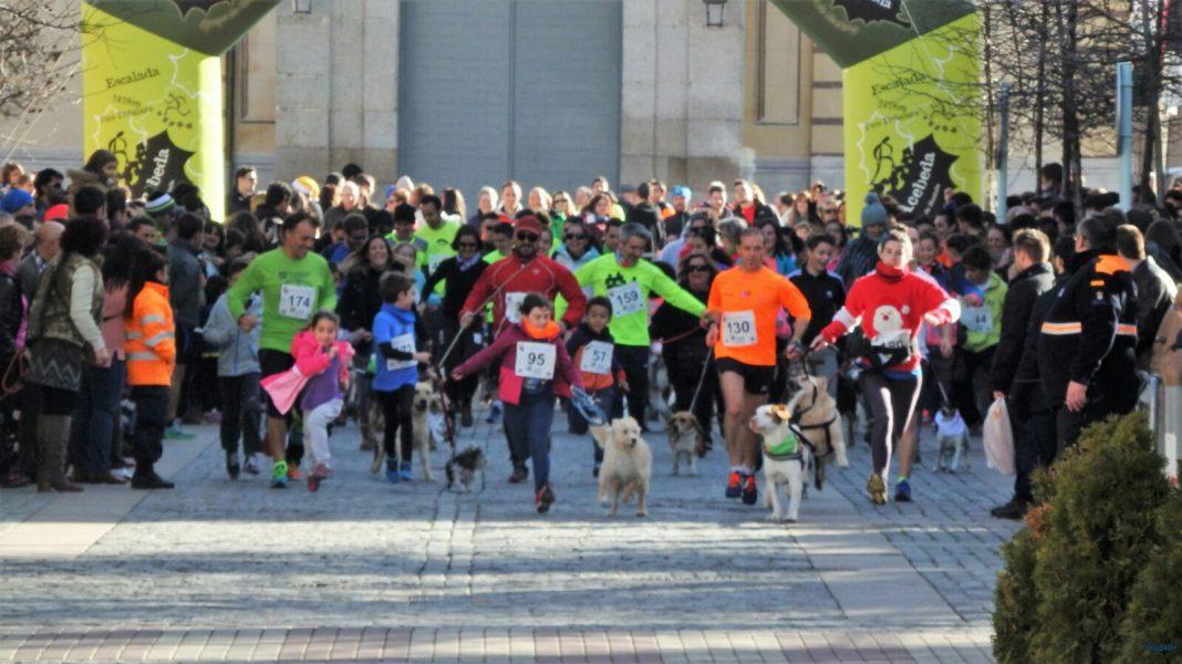 Imagen de archivo de la carrera San Silvestre del Real Sitio de San Ildefonso, en la que participaron cientos de vecinos de todas las edades.