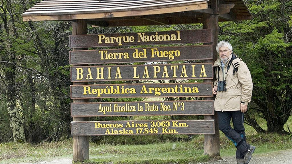 Francisco Sánchez, durante su viaje a La Patagonia. / E.A.
