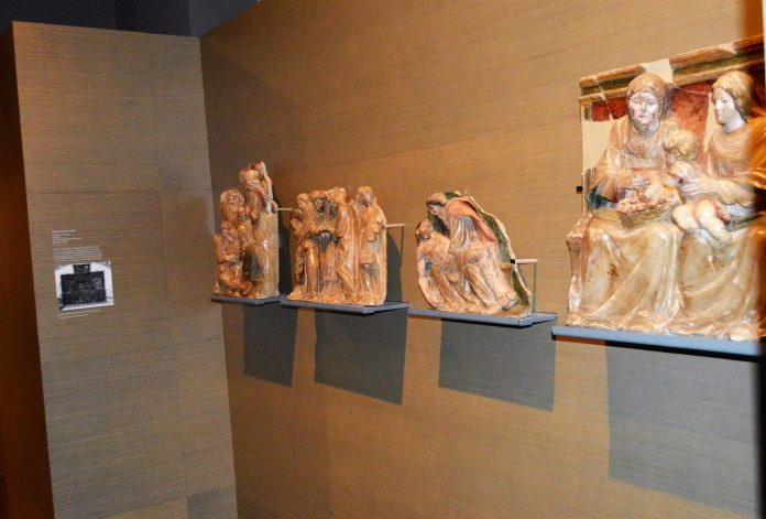 Algunas de las piezas de los bienes de Sijena. / Europa Press