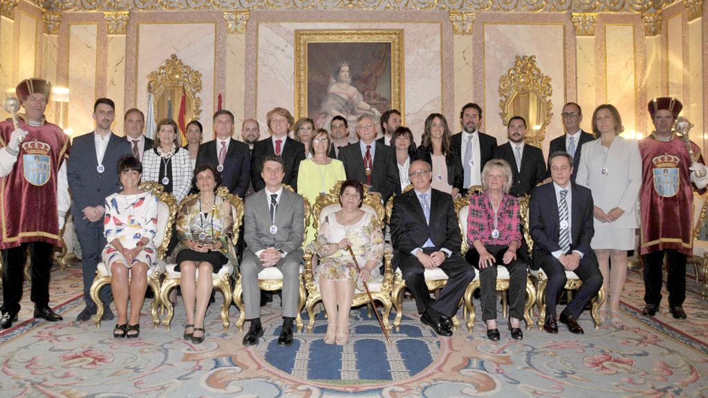 La corporación municipal de Segovia, el día de su constitución, fue en la primera en la que se produjeron dimisiones. / juan martín