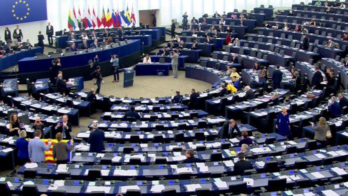 Imagen de archivo de la Eurocámara en una una sesión ordinaria en el Parlamento Europeo.