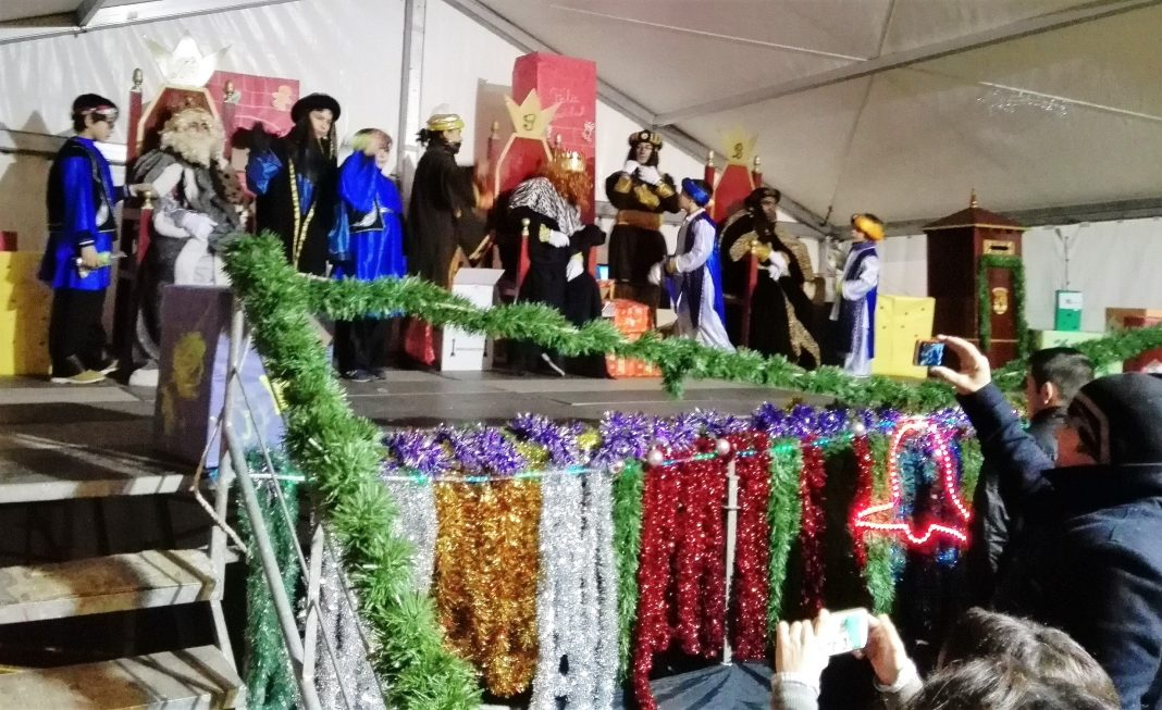 Los Reyes, las pasadas Navidades, en el Real Sitio.
