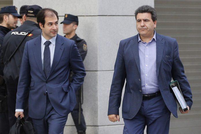 David Marjaliza, a su llegada a los Juzgados, en calidad de testigo, en una imagen de archivo de la pieza 'Talamina'.