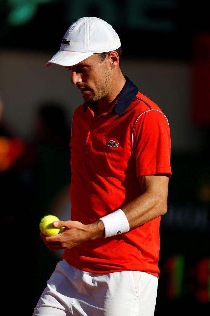El tenista español Roberto Bautista, durante el partido en la Copa Davis.
