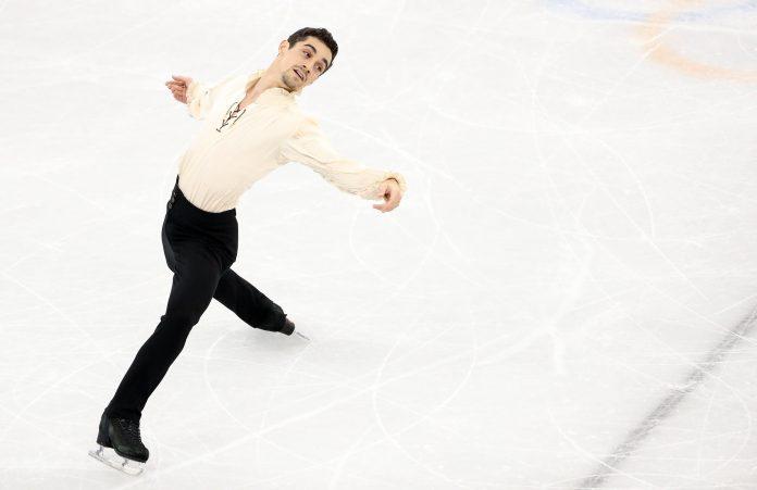 Javier Fernández, durante el programa largo de patinaje artístico en los Juegos Olímpicos de Invierno de PyeongChang 2018.