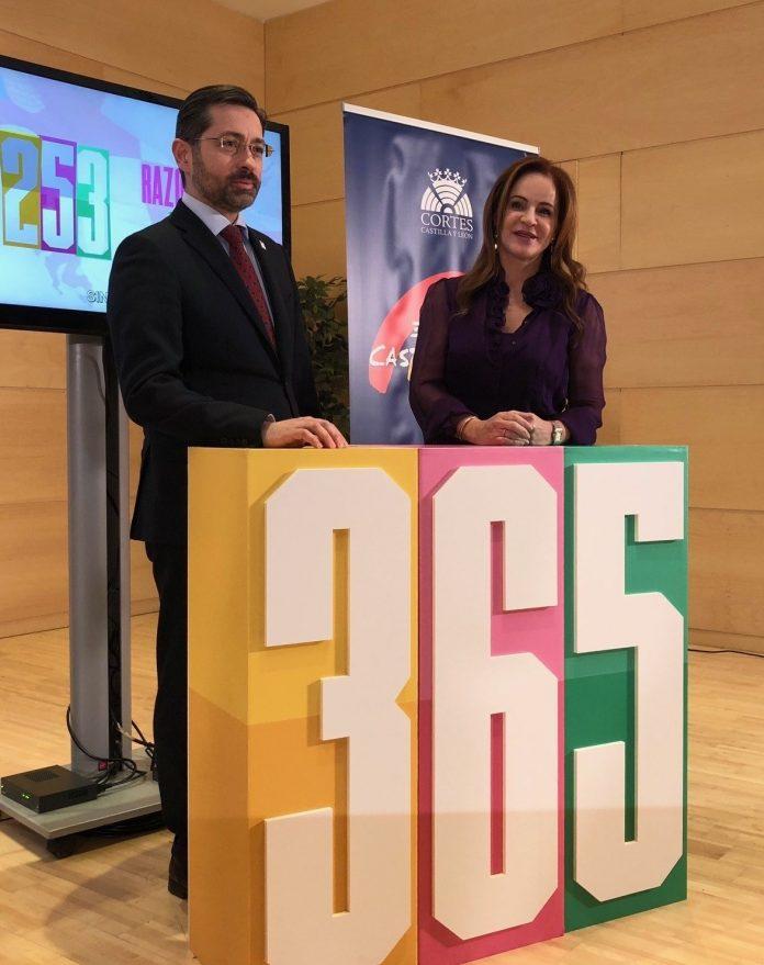 La presidenta, Silvia Clemente, junto al director de RTVCyl, Eduardo Álvarez.