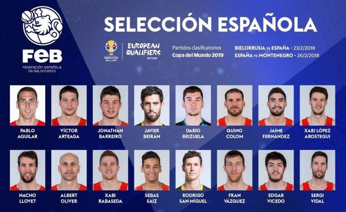 Lista de convocados por Sergio Scariolo para la segunda 'ventana' de la FIBA.