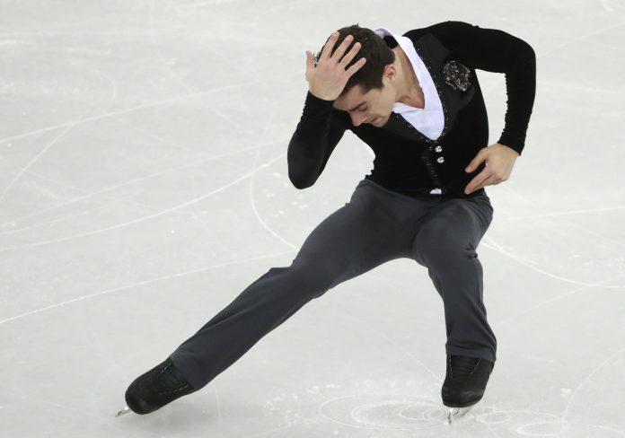 Javier Fernández, durante el programa corto de los Juegos Olímpicos de Invierno de PyeongChang
