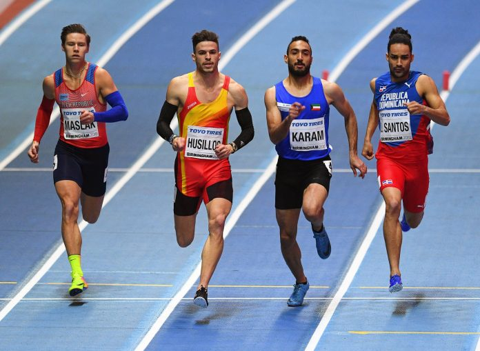 El palentino Óscar Husillos, que no ha perdido ninguna carrera en 400 metros esta temporada, dominó hacia la final.