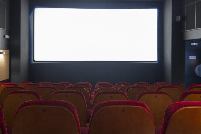 Imagen de archivo del interior de una sala de cine española.