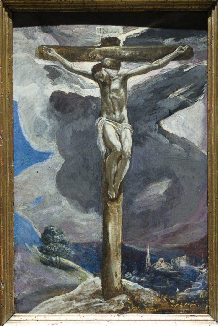 El Estado ha asegurado por tres millones de euros a la pintura 'Cristo Crucificado' de Doménico Theocópuli, El Greco .