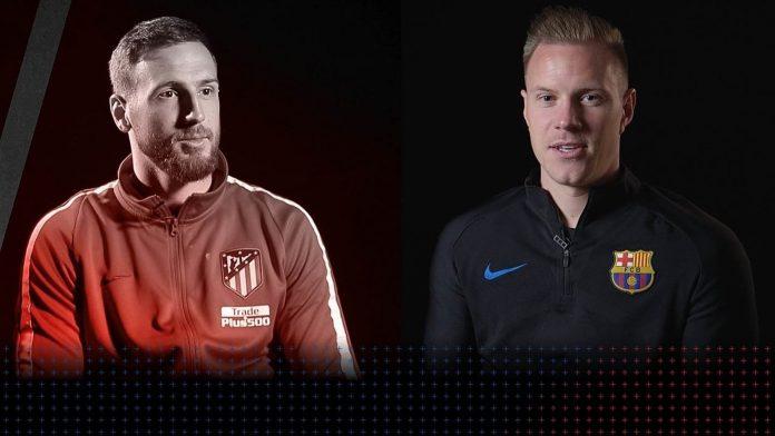 Oblak y Ter Stegen serán dos de los grandes protagonistas del partido que disputarán mañana Atlético de Madrid y Barça en el Camp Nou.