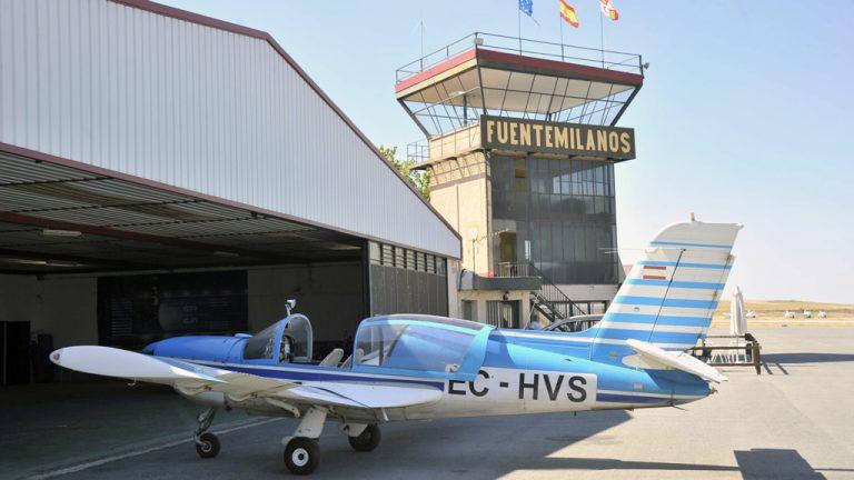 El aeródromo de Fuentemilanos ya es de propiedad privada
