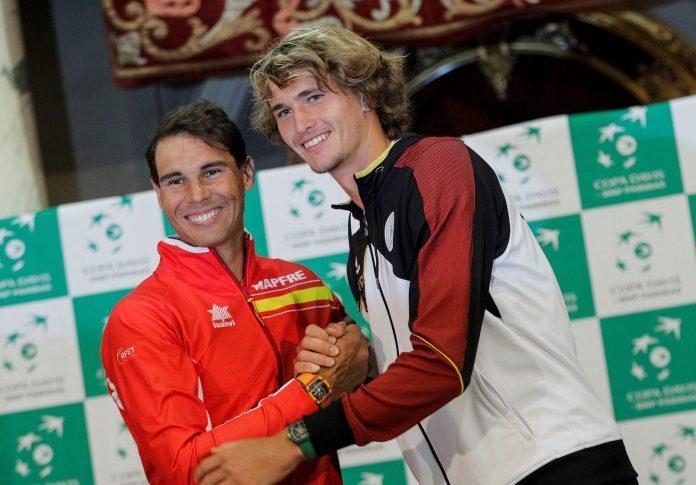 Rafa Nadal y Alexander Zverev son los números uno de España y Alemania.
