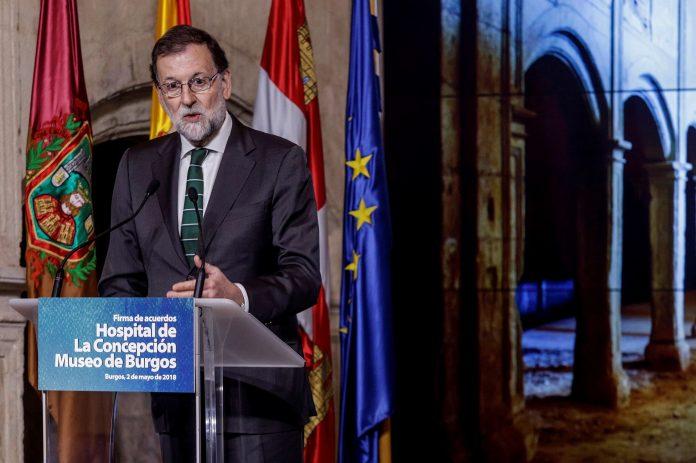 El presidente del Gobierno, Mariano Rajoy, durante su intervención en la capital burgalesa.