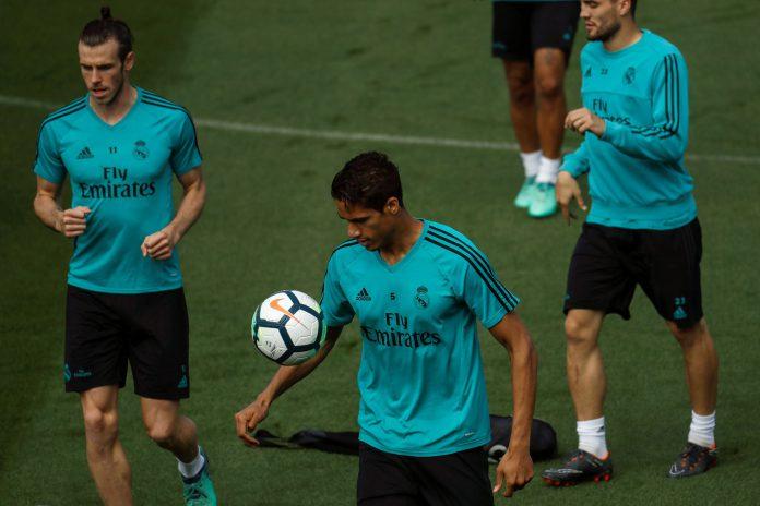 Los jugadores del Real Madrid, en el último entrenamiento antes de recibir al Celta