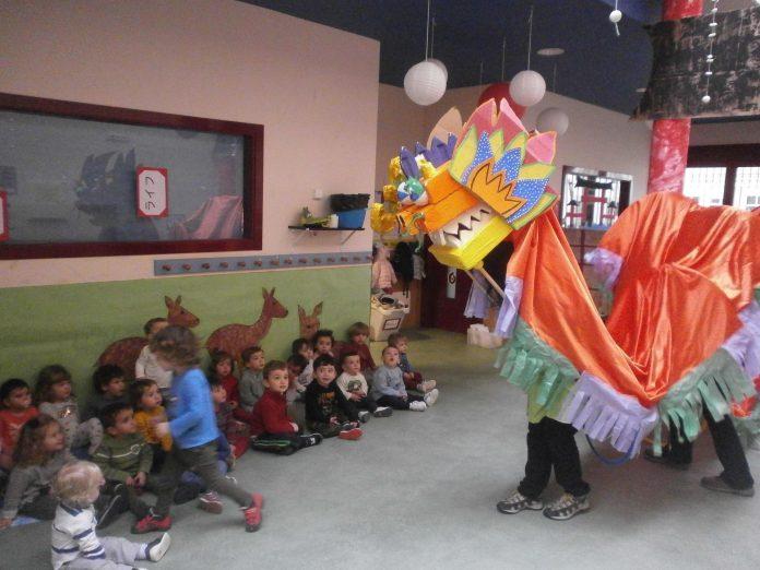 Imagen de una de las actividades realizadas en la escuela infantil municipal.