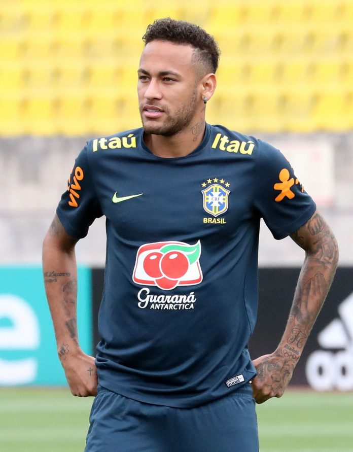 El jugadro bralileño Neymar.