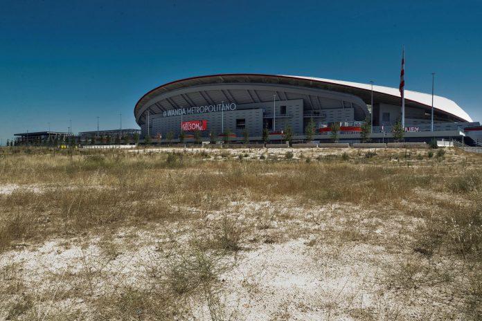 El estadio del Wanda Metropolitano está ubicado en el distrito de San Blas-Canillejas en Madrid. / Efe