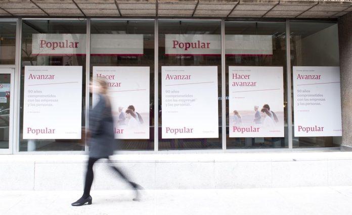 Una antigua oficina del Banco Popular, previa a su adquisición por parte del Santander.