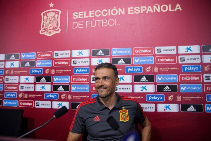 Luis Enrique, durante la comparecencia posterior al anuncio de la convocatoria de la Selección.