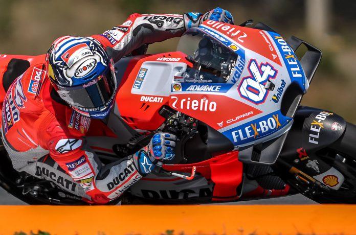 Andrea Dovizioso fue el más rápido de la jornada en MotoGP.