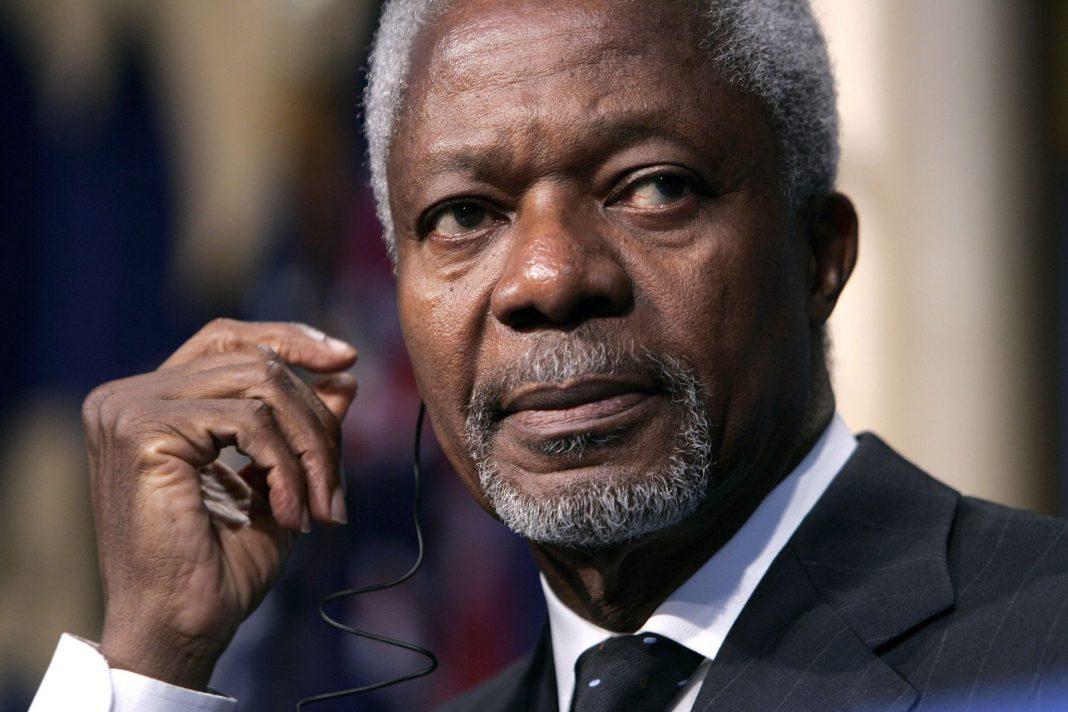 Kofi Annan ganó en 2001 el Premio Nobel de la Paz ex aequo con la ONU.