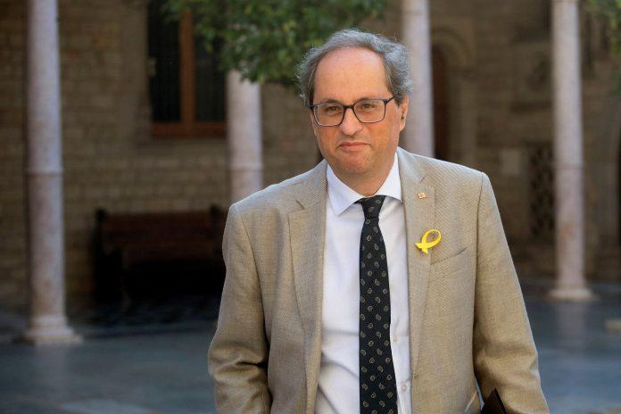 El presidente de la Generalitat, Quim Torra, critica la presencia de Felipe VI en el aniversario de los atentados en Cataluña.