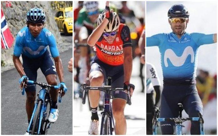 Valverde forman la terna de favoritos a ganar la Vuelta 2018.