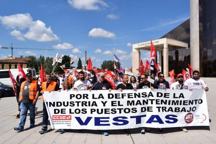 Los sindicatos Comisiones Obreras y UGT siempre han mostrado su apoyo a los trabajadores de Vestas.
