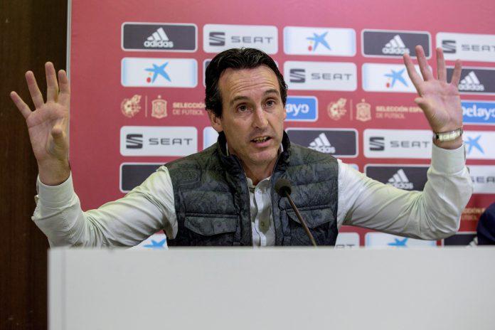 Unai Emery, durante la rueda de prensa enmarcada en el tercer Curso de Formación Continua Licencia UEFA.