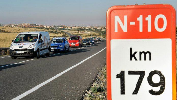 La carretera N-110, a su paso por Segovia, también se verá afectada por la nueva norma. / kamarero