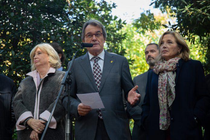 El expresidente del Ejecutivo catalán, Artur Mas, en la rueda de prensa.