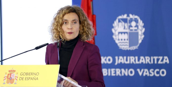La ministra de Política Territorial y Función Pública, Meritxell Batet, en la rueda de prensa.