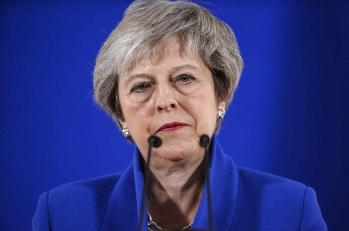 La 'premier' británica, Theresa May, durante la rueda de prensa tras la reunión en Bruselas de este domingo.