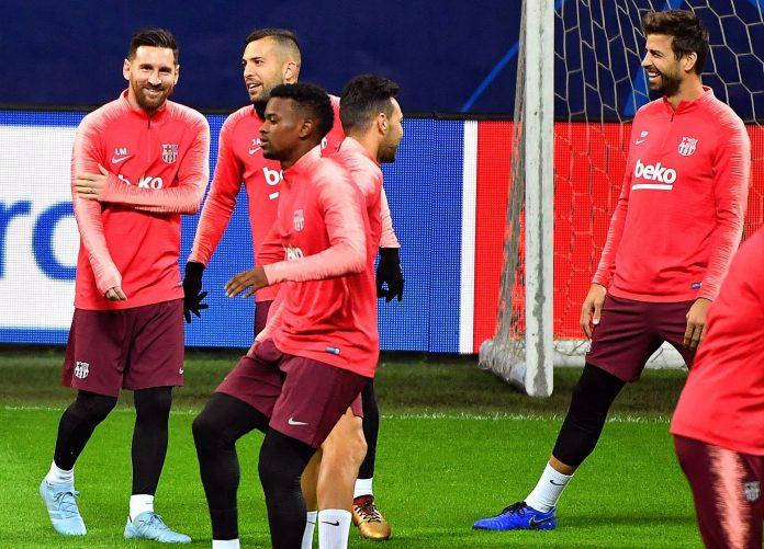 Los jugadores del FC Barcelona no quieren perder la oportunidad de certificar la clasificación en el Giuseppe Meazza.