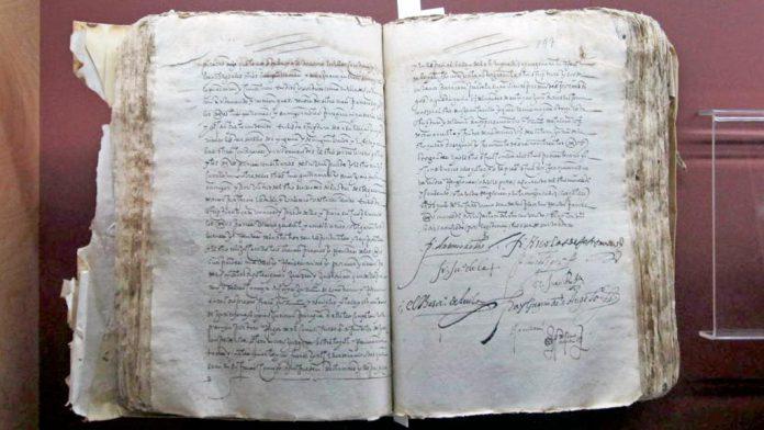 El documento se podrá observar hasta el próximo 11 de diciembre en el Archivo Histórico de Segovia.
