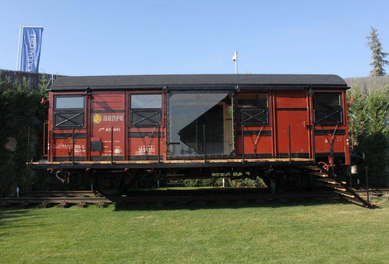 Vagones de tren que se convierten en hogares