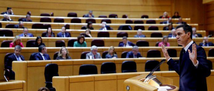 El presidente Pedro Sánchez durante la sesión de control al gobierno en el Senado el pasado 18 de septiembre.