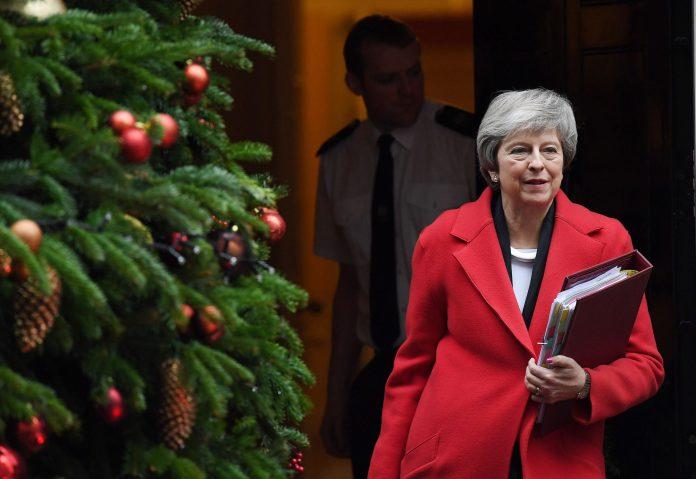 La primera ministra británica, Theresa May, en Downing Street.