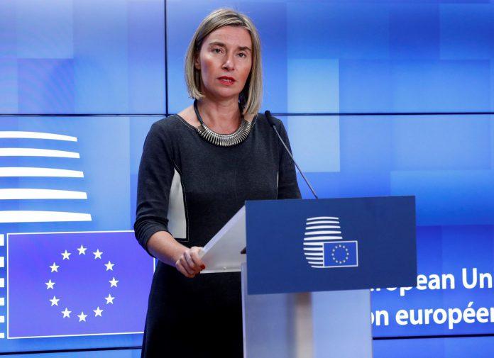 La jefa de la diplomacia europea insistió en preservar el tratado y en lograr su plena aplicación.