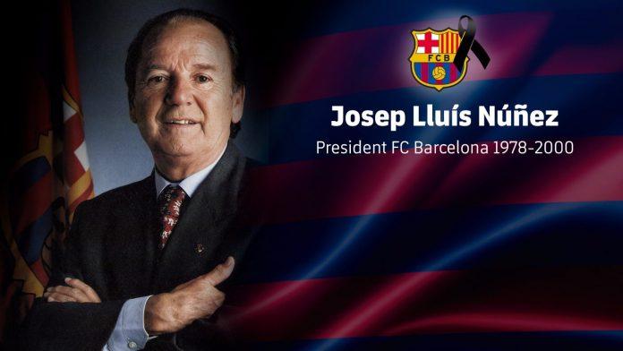 Josep Lluís Núñez, presidente del FC Barcelona entre 1978 y 2000, falleció ayer a los 87 años.